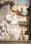 'Ljubljana, Slovenia; Robba Fountain And River Gods Statues'