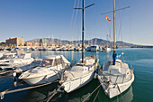 'Fuengirola, Malaga Province, Costa Del Sol, Spain; Pleasure Crafts In Harbour'