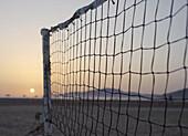 Volleybal Net On A Beach