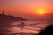 'Sunset Over Yaquina Head Lighthouse; Newport, Oregon, United States of America'