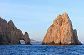 'A Rock Formation In The Water On The Coast; Cabo San Lucas, Baja California Sur, Mexico'
