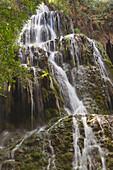 'La Trinidad Waterfall In Natural Park Monasterio De Piedra; Zaragoza Province, Aragon, Spain'