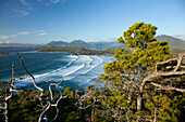 'The View Of Cox Bay And Surrounding Mountains And Temperate Rainforest Near Tofino; British Columbia, Canada'