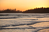 'Waves At Long Beach A Surfer's Paradise At Sunset In Pacific Rim National Park Near Tofino; British Columbia, Canada'