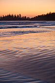 'Long Beach At Sunset A Surfer's Paradise In Pacific Rim National Park Near Tofino; British Columbia, Canada'