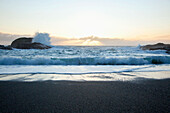 'Waves At South Beach In Pacific Rim National Park Near Tofino; British Columbia, Canada'