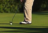 'A Golfer At Lynnwood Golf Course; Lynnwood, Washington, United States of America'