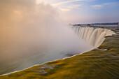Sunrise And Horseshoe Falls - Niagara Falls Ontario Canada