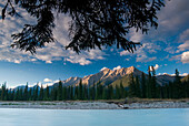 Rocky Mountains And Mountain River, Kootenay River, Kootenay National Park, Bc, Canada