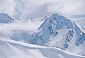 Fissile Mountain, Daytime, Covered In Winter Snow, Whistler, B.C.
