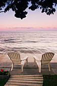 Cottage Chair At Lake Manitoba, Canada