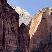 'Sandstone Cliffs In Zion National Park; Utah, United States of America'
