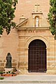 'Iglesia Y Convento De La Caridad With The Statue Of The Duquesa De Parcent; Ronda, Malaga, Spain'