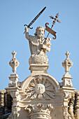 'Monastery Of Ucles With Saint James Wielding His Sword; Cuenca, Castile La Mancha, Spain'