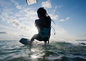 'Kitesurfing; Tarifa, Cadiz, Andalusia, Spain'