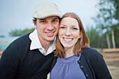 'Portrait Of A Couple; Sherwood Park, Alberta, Canada'