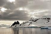 'Mountains along the coastline;Antarctica'