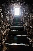 'Light at the end of the tunnel kohav hayarden national park;Israel'