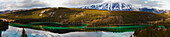 'Emerald lake panorama;Carcross yukon canada'