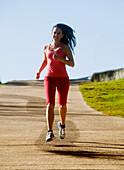 'A woman running;Gold coast queensland australia'