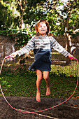 'A young girl jumping rope;Gold coast queensland australia'