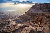 'Sunrise over masada;Israel'