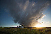 'Souter lighthouse with a cloud formation above it at sunrise;South shields tyne and wear england'