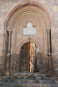 'Stone arched entryway to a building;Mustafapasa nevsehir turkey'