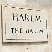 'A sign for the harem at topkapi palace;Istanbul turkey'