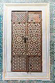 'Design on closed shutters in the topkapi palace;Istanbul turkey'