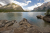 'Canadian rocky mountains and a lake;Banff alberta canada'