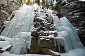 'Frozen waterfall at maligne canyon;Alberta canada'