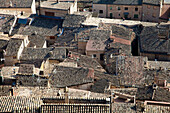 'View of the rooftops in a village;Guimera lleida catalonia spain'