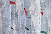 'Buddhist prayer flags at tashiding monastery;Tashiding west sikkim india'