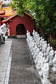 'Confucius statues at a shrine;Nagasaki japan'