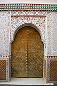 'Ornate Facade On Walls And Door Of A Building;Marrakech Morocco'