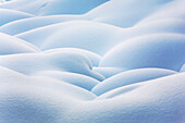 'Close up of snow covered round mounds;Lake louise alberta canada'