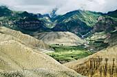 'Beautiful mountain landscape;Ghemi village upper mustang nepal'
