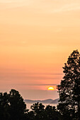 'Sunrise as seen from the overlook along the foothills parkway great smoky mountains national park;Tennessee united states of america'