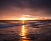 'Sunset Over The Atlantic Ocean And Achill Island On The West Coast Of Ireland; County Mayo, Ireland'