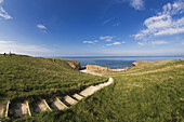'Steps Leading Over The Grassy Slope To The Water's Edge; South Shields, Tyne And Wear, England'