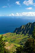 'Kalalau Valley and Kalalau Lookout along the Na Pali coast; Kauai, Hawaii, United States of America'