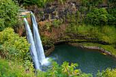 'Wailua Falls; Kauai, Hawaii, United States of America'