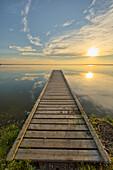 'Wharf, Queen Elizabeth Provincial Park; Alberta, Canada'