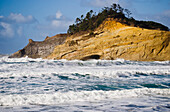 'Winter storms erode the cliffs at Cape Kiwanda; Oregon, United States of America'