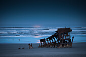 'Moonlight shines over the wreck of the Peter Iredale; Oregon, United States of America'