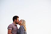 'A couple kissing; Victoria, British Columbia, Canada'