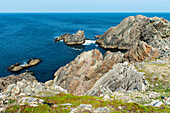 'Rocks on the rugged atlantic coastline; Newfoundland and Labrador, Canada'