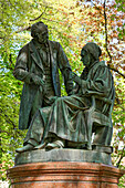 Friedrich Gauss and Wilhelm Weber Monument, the Inventor of the Telegraph, Old Wall, Goettingen, Lower Saxony, Germany