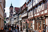 Street and Parish Church of St. Michael, Goettingen, Lower Saxony, Germany
